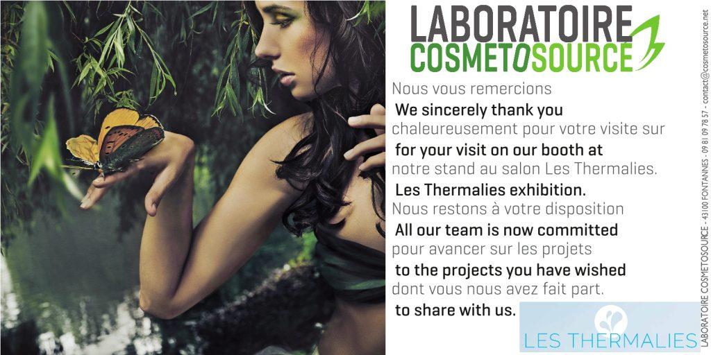 Remerciements Thermalies Cosmetosource